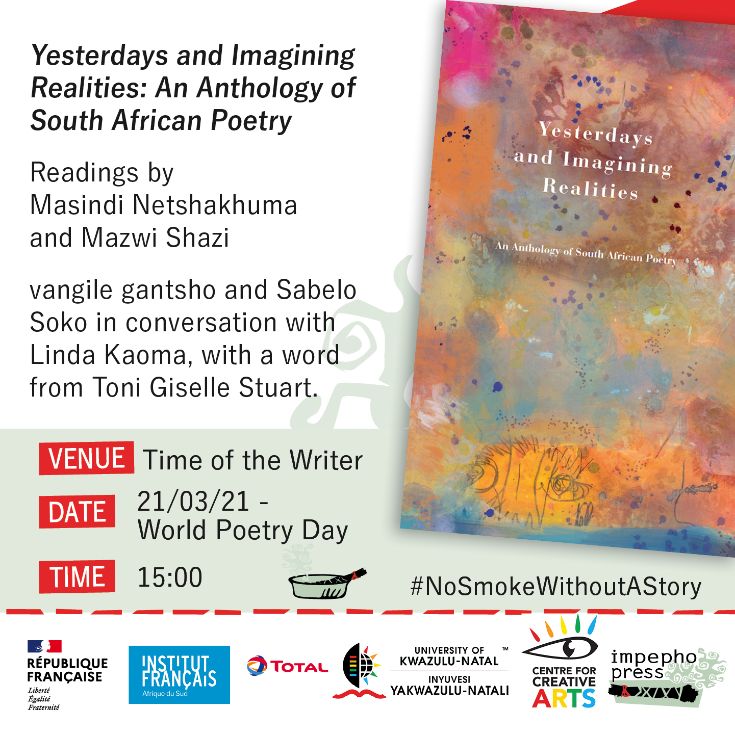 Launch instagram poster for impepho press title 2021 - Yesterdays and Imagining Realities: An Anthology of South African Poetry